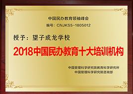 2018中国民办教育十大培训机构
